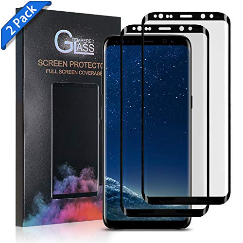 Xawy [2-Pack] for Galaxy S8 Plus Screen Protector Tempered Glass,[Anti-Fingerprint][No-Bubble][Scratch-Resistant] Glass Screen Protector for Samsung Galaxy S8 Plus (Galaxy S8 Plus Tempered Glass Screen Protector)