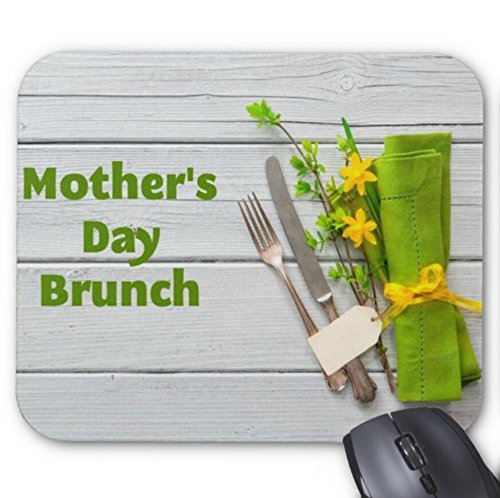 Mousepad Mother's Day Brounch Tableware and Napkins Print Mouse ()