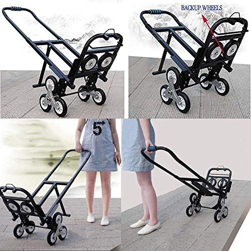 Ceny Stair Climbing Cart Portable 330LBS Capacity Folding Stair Hand Truck 30 Inch Folded Height with 2 Backup Wheels