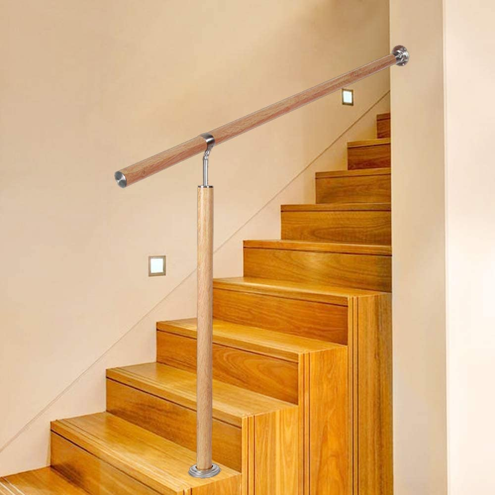 con vetas de madera para interior y exterior Barandilla para escaleras de UISEBRT