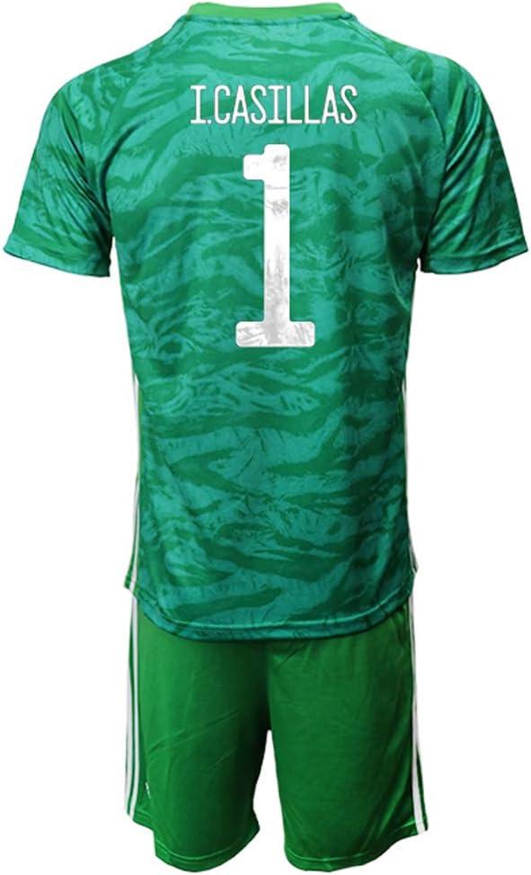 OZP Camiseta De Fútbol Soccer Jersey Short Sleeve I.Casillas_ Green España Jersey 2 Sets Camisetas y Pantalones Cortos para Hombres/Mujeres/jóvenes: Amazon.es: Deportes y aire libre