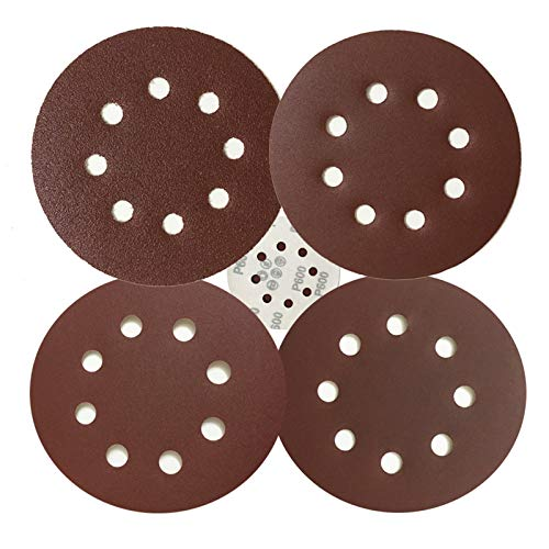 5-Inch Hook and Loop Sanding Discs [20 PCS] for Orbital Sander, Assorted Sandpaper 80 240 400 600 Grits