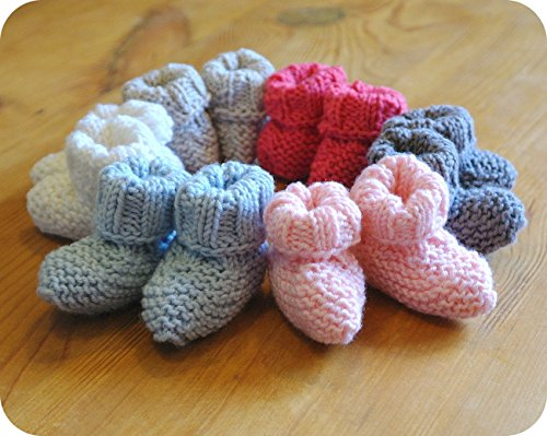 Baby Bootie Box Baby Blue Learn to Knit Kit