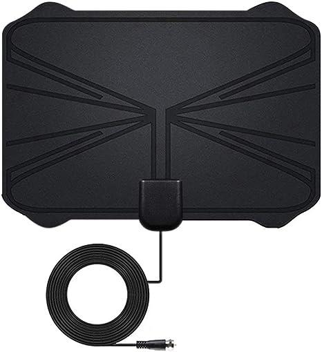 Boburyl 4K Digital HDTV Antena Interior Antena amplificada 1.180 Millas de Alcance HD1080P DVB-T2 TV TDT Sin Amplificador