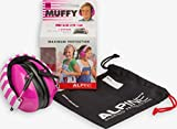 Alpine Hearing Protection Muffy Ear Muff for Children, Pink/White
