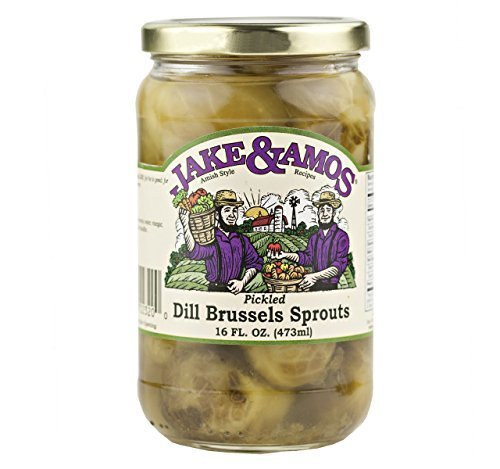 (Jake & Amos Dill Brussel Sprouts, 16 Oz. Jar (Pack of 2) by Jake & Amos)