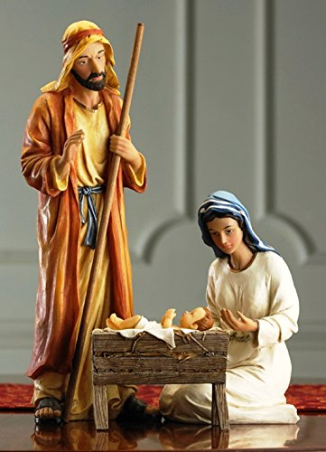 7 Inch Figures Real Life Nativity Full Complete Set - Includes All People, Lighted Manger, Chest of Gold, Frankincense & Myrrh by Three Kings Gifts (Image #2)
