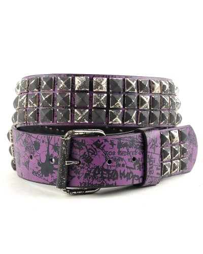 Purple Stud Belt - 3