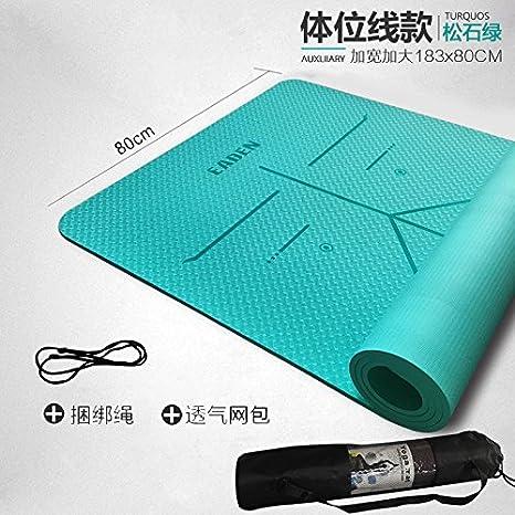 YOOMAT Yoga Mat TPE en Todo el Cuerpo Antideslizante Gruesos ...