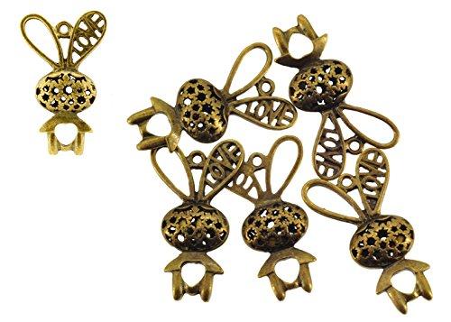 Mandala Crafts Wholesale Tone Jewelry Making Charm Pendants(Bunny, 5 (Bulk Wholesale Costume Jewelry Distributors)