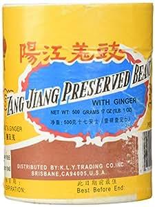 Yang Jiang Preserved Black Beans With Ginger, 1lb.