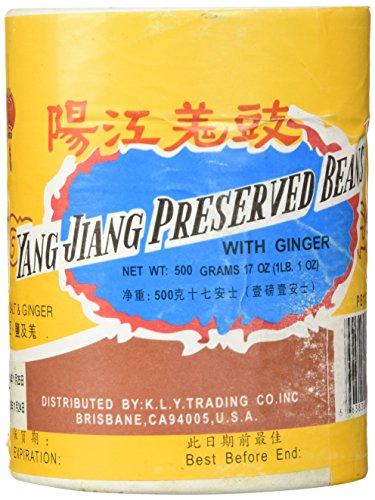 Yang Jiang Preserved Black Beans With Ginger, 1lb. ()