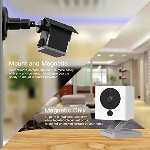 Wyze Camera Wall Mount Bracket, Weather Proof 360 Degree Protective  Adjustable Indoor and Outdoor Mount Cover Case for WyzeCam 1080p Smart  Camera and