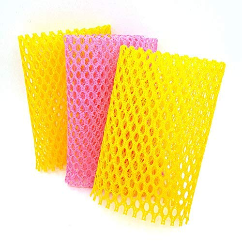 Innovative Dish Washing Net Cloth/Scourer - 100% Odor Free/Quick Dry - No More Sponges with Mildew Smell - Perfect Scrubber for Washing Dish - 11 by 11 inches - 3PCS ()