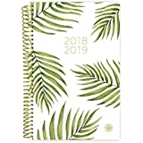 "Bloom Daily Planners 2018-2019 Academic Year Day Planner - Monthly and Weekly Calendar Book - Inspirational Dated Agenda Organizer - (August 2018 - July 2019) - 6"" x 8.25"" - Palm Leaves"