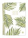 Bloom Daily Planners 2018-2019 Academic Year Day Planner - Monthly and Weekly Calendar Book - Inspirational Dated Agenda Organizer - (August 2018 - July 2019) - 6'' x 8.25'' - Palm Leaves