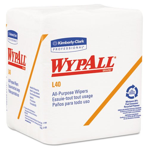 (KCC05600 - Wypall L40 Wipers, Quarterfold, 12 1/2 X 13, White, 56/Pack)