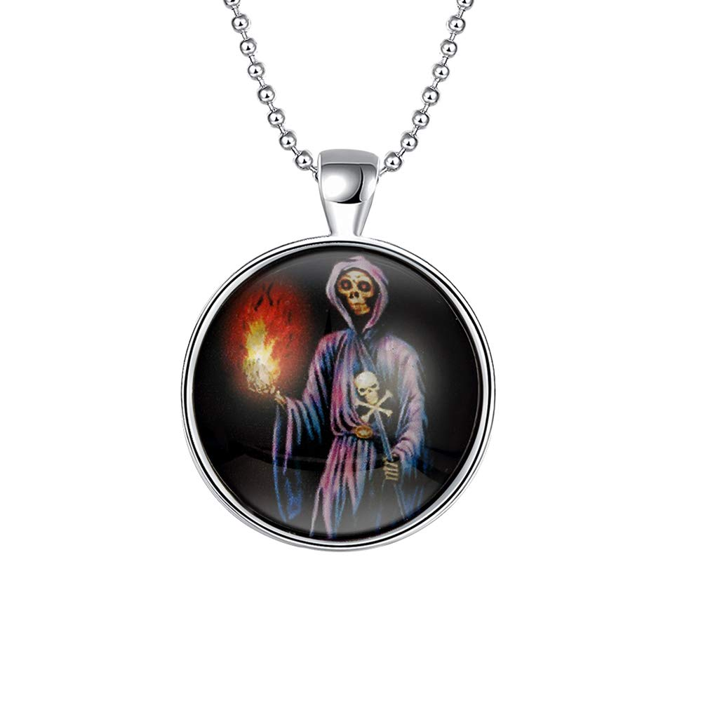 FENICAL notte luminoso Ciondolo Collana Glow in the Dark gioielli con picutre il male strega