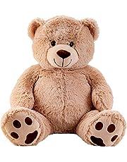 Reusachtige teddybeer knuffelbeer XXL 100 cm hoog pluche beer knuffel fluweelzacht - om van te houden