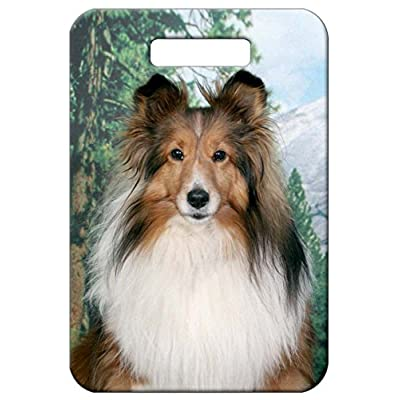 d5e92eb3a5 Canine Designs Set of 2 Sheltie Shetland Sheepdog Luggage Tags hot sale