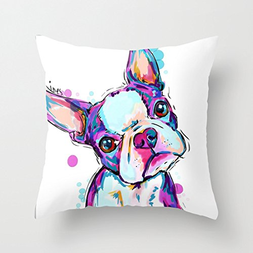 Decorative Standard Pillowcase Boston Terrier Pillow Cases 20X20 Inches ilieniy?