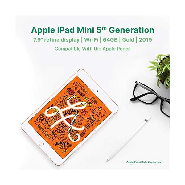 "Apple iPad Mini | 7.9"" | 5th GEN | WI-FI | 64GB | Gold | 2019 | (Renewed) 4"