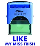 LIKE BY MISS TRISH Shiny Self Inking Rubber Stamp Office Stationary