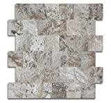 Yipscazo Peel and Stick Tile for Kitchen Backsplash, Stick on Tiles for Wall Decor(Persia Grey)