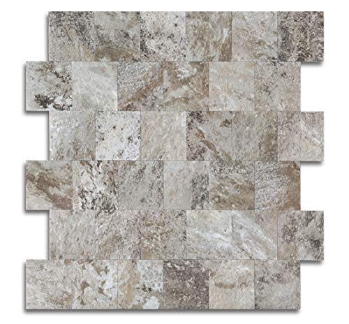Peel and Stick Tile for Kitchen Backsplash, Stick on Tiles for Wall Decor(Persia Grey)