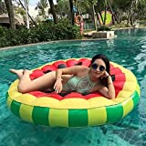 Vacio Water Float, 2-Person Inflatable Seat Air Sofa,Perfect Inflatable Water Proof &Anti-Air Leaking Floating Row Seat Beach Pool Float Raft -Portable Toys for Adult Kids, Watermelon