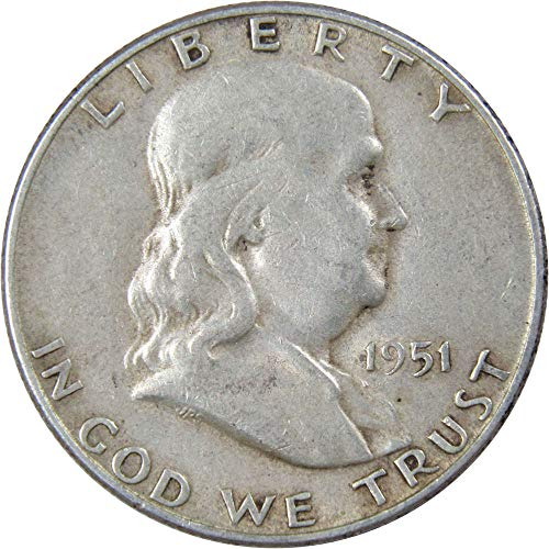 1951-S 50c Franklin Silver Half Dollar VF Very Fine ()