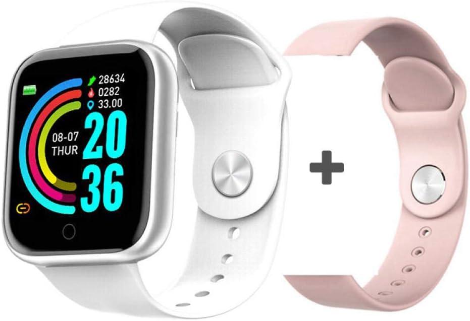 NUNGBE Reloj Inteligente, Reloj Inteligente de presión Arterial para Hombres y Mujeres, Monitor de frecuencia cardíaca Resistente al Agua, rastreador de Ejercicios, para Android iOS