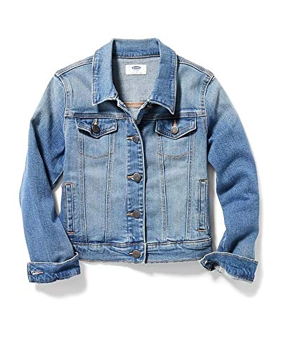 Old Navy Back to School Sale Medium-Wash Denim Jacket for Girls! (Medium) ()