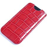 Fine Leather case Handmade Sleeve for Apple iPhone 7 Plus iPhone 6 6S Plus 8 8 Plus X Samsung Galaxy S8 S8+ Red
