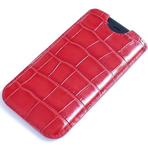 Fine Leather case Handmade Sleeve for Apple iPhone 7 Plus iPhone 6 6S Plus 8 8 Plus X Samsung Galaxy S8 S8+ Red by BestSkin - VertuiPhoneiPad Leather cases
