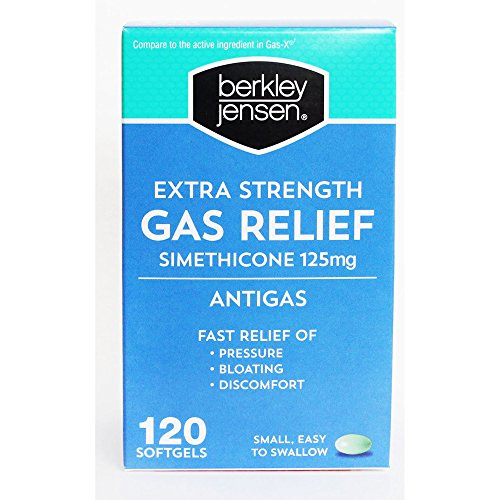 Berkley Jensen Extra Strength Gas Relief Softgels, 120 ct. (pack of 2) by Berkley and Jensen