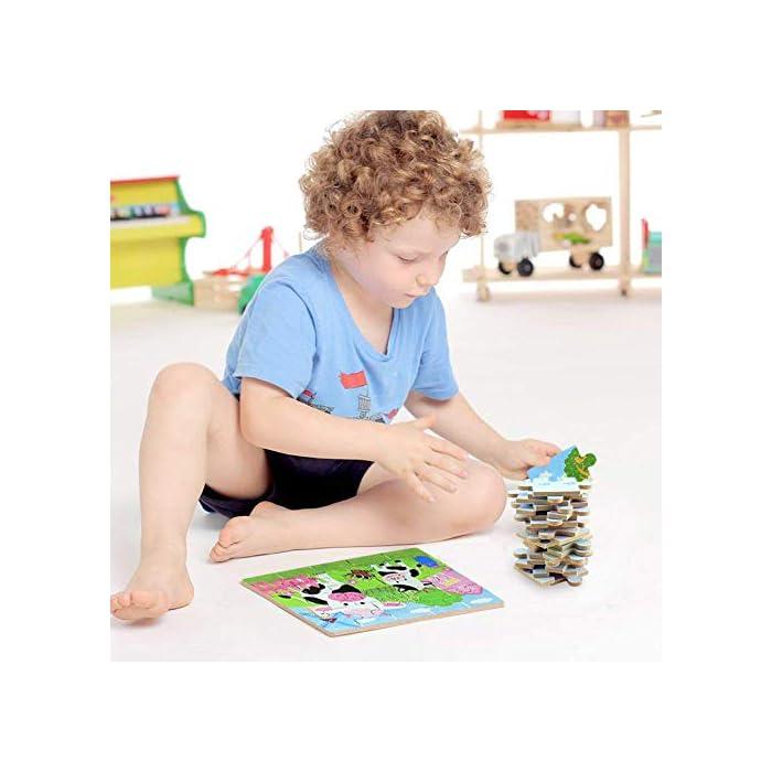 51r5U %2BZU8L 【Diseño de Juguete Perfecto】Portátil y fácil de usar - El borde de la caja de madera es liso, sin púas y no lastimar la mano del niño. Mantenga a los niños alejados de la electrónica, todos los accesorios están en la caja, llévalo a donde quieras ir. 【Juguetes educativos】Puede ejercer la capacidad de coordinación ojo - mano, la capacidad de pensamiento lógico, la creatividad y la capacidad de aprendizaje de la lectura. 【Portátil y fácil de usar】Todos los componentes pueden poner en una caja.Es un compañero de viaje perfecto, también puede ser utilizado como un soporte portátil de viaje.En cualquier momento, en cualquier lugar del avión, auto, la Sala de espera del médico o el aeropuerto de divertirse.Que los niños mantengan la calma y ocupada, lejos de disfrutar de el niño.Salud y Seguridad: el producto.