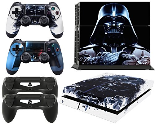 Gizmoz n Gadgetz GNG PS4 Console Darth Vader From Starwars Skin Decal Vinal Sticker + 2 Controller Skins Set