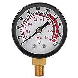 TS-Y50-1.4mpa 1/8 NPT Radial Pressure Gauge Meter Pressure Measuring Tool for Air Compressor Accurate Measurements