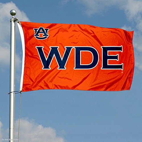 Auburn Large WDE Logo 3x5 College Flag