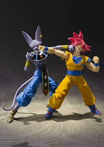 "51r5UrJcNQL - Bandai Tamashii Nations S.H. Figuarts Super Saiyan God Son Goku ""Dragon Ball Super""  Action Figure"