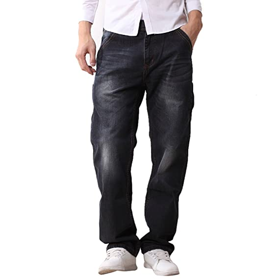 Icegrey Jeans Jambe Droite Homme: : Vêtements
