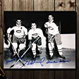Maurice Richard, Henri Richard & Dickie Moore Montreal Canadiens Autographed 8x10