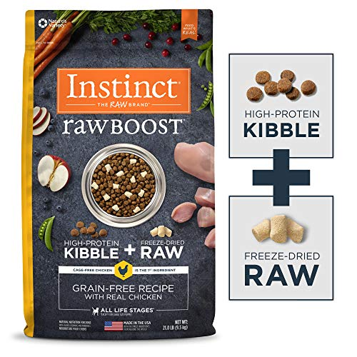 Instinct Raw Boost Grain Free Recipe with Real Chicken Natural Dry Dog Food by Nature's Variety, 21 lb. Bag