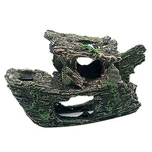 Aulley Naufragio, naufragio, cueva, acuario, ornamento, pesca, barco, barco, pescado, tanque, decoración