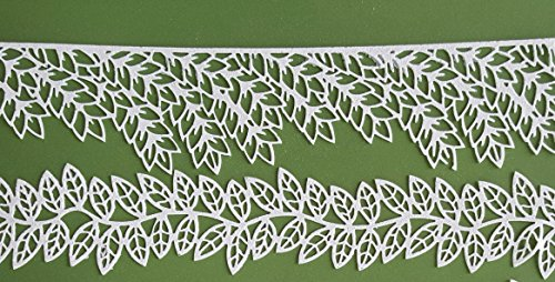 Edible Lace-Ready Use 2 PC Willow Leave Border Strips DIY Cake Any Occasional Edible Lace Needs