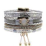 Ty-BLACK Fashion Bohemian bracelets&banglesjewelry gray 17cm