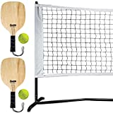 Franklin Sports Pickleball Starter Set - Half Court Size for Training - Includes Net, (2) Paddles, and (2) X-40 Pickleballs