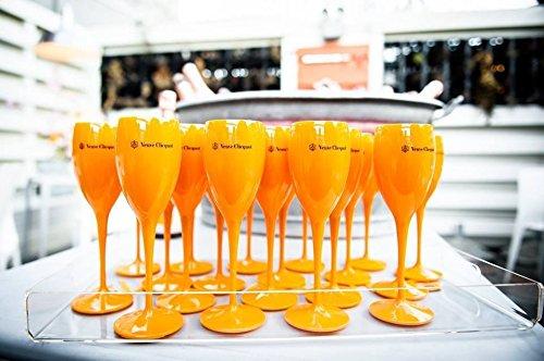24 x Veuve Clicquot Saint-Tropez Poolside Champagne Flutes - Summer Party Pack