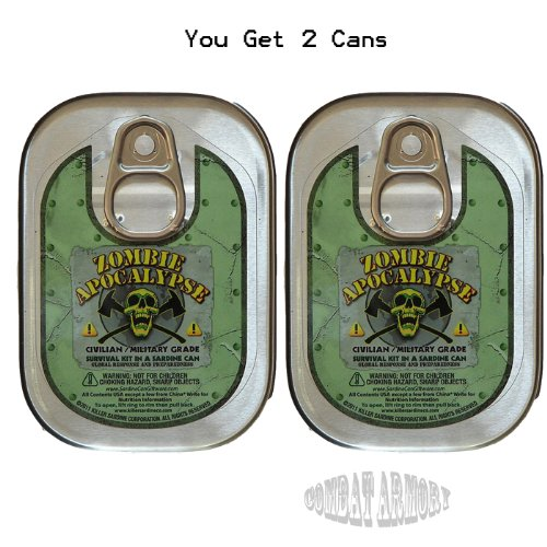 2 Pack Combo Zombie Apocalypse Survival Kit in a Sardine Can (Kit Survival Sardine Can)